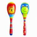 Lion And Frog Maraca Set